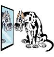 Cartoon great dane dog vector