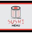 Sushi book menu vector