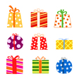 Color gift boxes vector