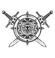 Crossed swords and board vector
