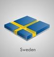 European flags set - sweden vector