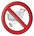 No shopping vector