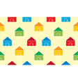 Houses seamless pattern background vector