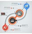 Flat infographic design vector