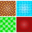 Set of crystal seamless pattern abstract texture vector