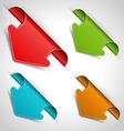 Arrow stickers set vector