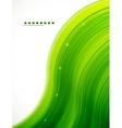 Light glittering green wave background vector