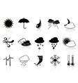 Black weather icon set vector
