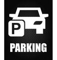 Parking icon vector