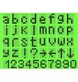 Alphabet lowercase vector
