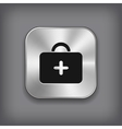 First aid medical kit icon vector