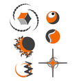 Abstract logo symbols vector