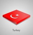 European flags set - turkey vector