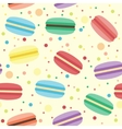 Seamless pattern with macarons vector
