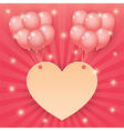 Heart and balloon on starburst background vector