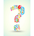 Question mark colored font from numbers vector