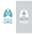 Healthy lungs vector