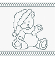 A knitted bear vector