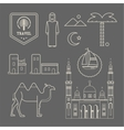 Arabic icons vector