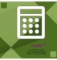 Calculator flat modern web design on a flat vector