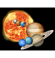 Sun and planets vector