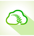 Leaf inside the eco cloud vector