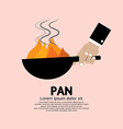 Cooking with frying pan vector
