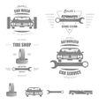 Car service badge set vector