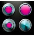 Color glass buttons set vector