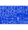 Alphabet uppercase blue vector