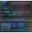 Transparent web design fields templates vector