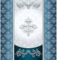 Royal victorian background with seamless pattern vector