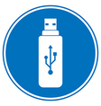 Usb flash button vector