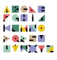 Geometric retro typeface vector