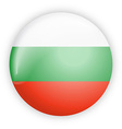 Bulgaria flag button vector