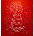 Merry christmas stars tree shape composition file vector