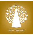 Merry christmas golden card vector