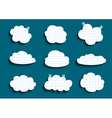 Lined and checked clouds collection vector