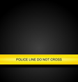 Police line tape background vector