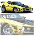 Cartoon muscle car vector