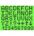 Alphabet uppercase vector