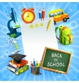 Back to school concept template vector