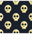 Seamless pattern skulls background vector