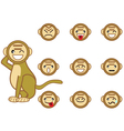 Funny monkey face vector