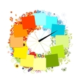 Design of clock four seasons concept vector