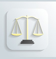 Icon of justice scales vector