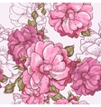 Beautiful seamless rose background vector