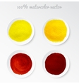 Set real watercolor circle vector