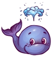 Whale in cartoon style vector