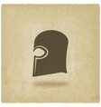 Helmet icon old background vector